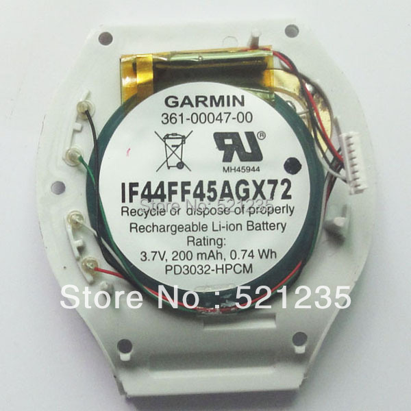 Garmin Original 361-00047-00 GPS Forerunner S1w Compatible S1 110 110W 210 210w Battery Replacement LIR3032 PD3032 used Watch(China (Mainland))