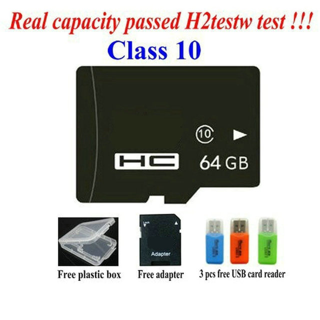 - Real capacity memory cards 2GB 4GB 8GB class 4 16GB 32GB 64GB class10 micro original tf sd cards +USB Reader