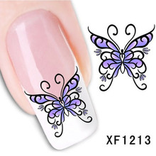 1Pcs Nail Art Water Sticker Nails Beauty Wraps Foil Polish Decals Temporary Tattoos Watermark + Free Shipping (XF1213)