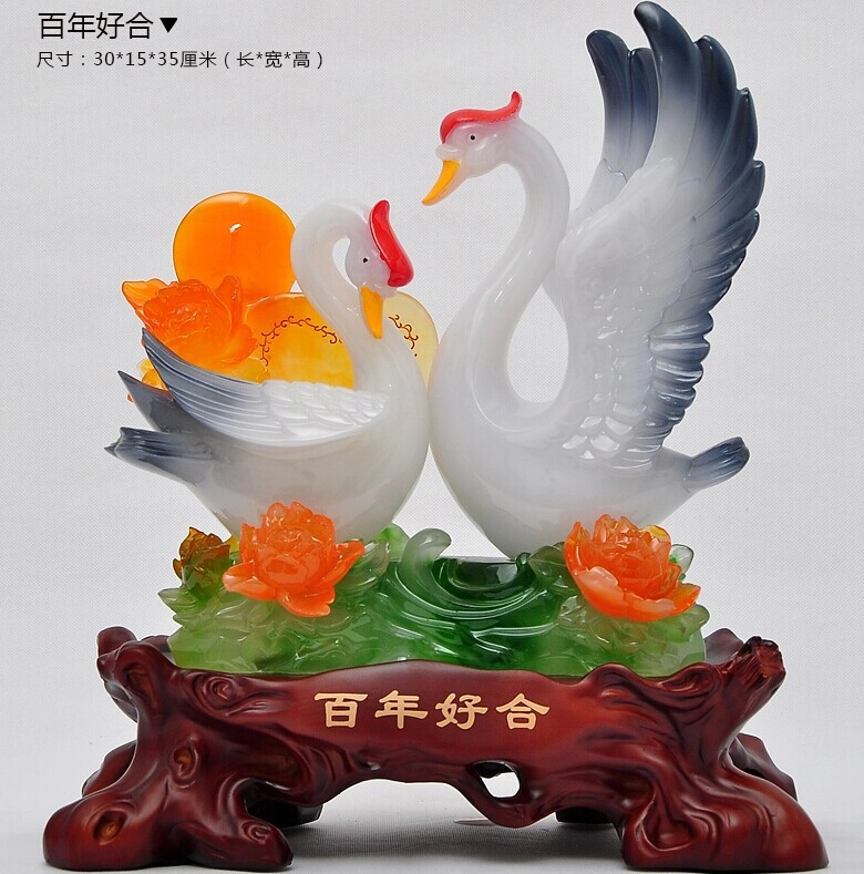 Practical creative upscale wedding gift to send to friends wedding marriage room decorations wedding wedding gift ornaments Swan