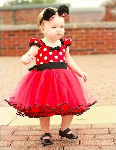 2015 toddler dresses Red Polka Dot baby girl dresses Bow chiffon children tutu dress wholesale 1-3 year 126(China (Mainland))