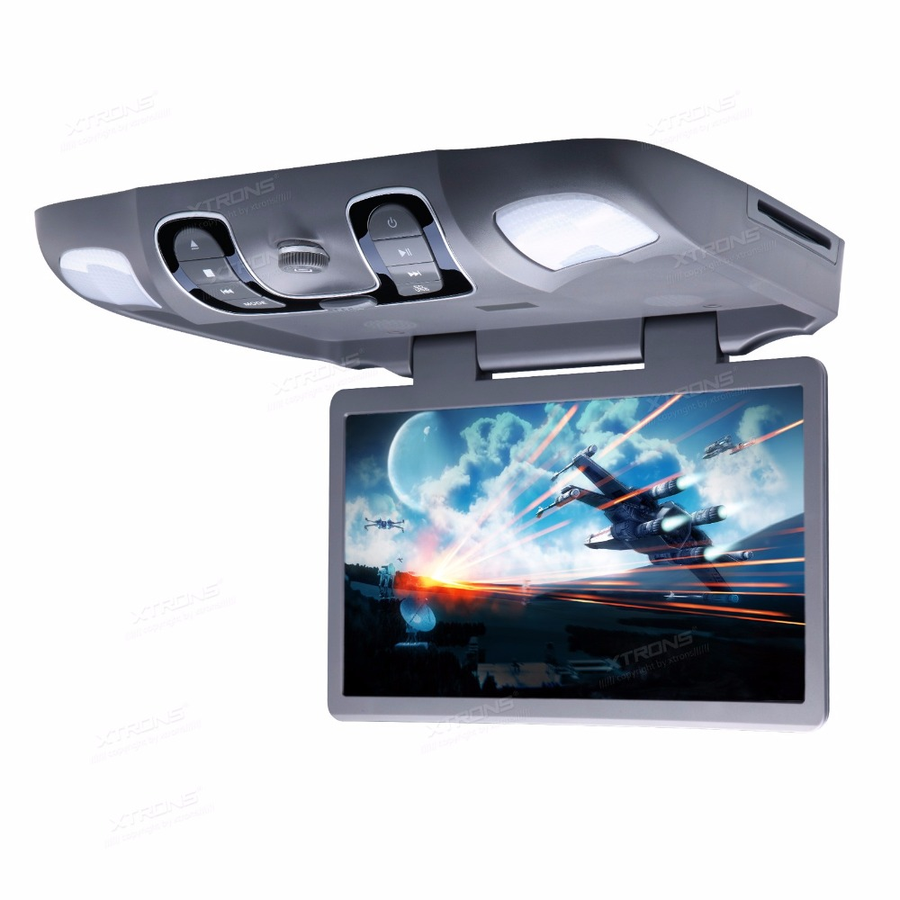 """15.6"""" Gray Color Flip Down Car DVD Roof Car DVD Roof Monitor Car DVD with 2 IR/FM Headphones & Slot Load DVD Drive Design(China (Mainland))"""
