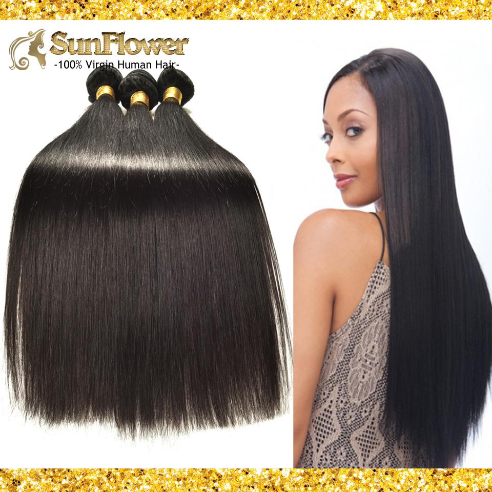 Здесь можно купить  Peruvian Original Virgin Hair Extension Soft Straight 4pcs Unprocessed Remy Human Hair 7ABeauty Natural Black Hair Bundles S-04  Волосы и аксессуары