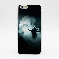 1141Y Hand Reaching Out From Smoke Horror Help Hard Case Transparent Cover for iPhone 4 4s 5 5s 5c SE 6 6s Plus