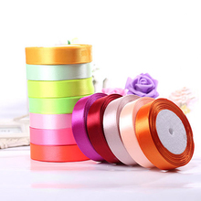Buy New Pretty Satin Ribbon 25mm 22 Meters Wedding Silk Ribbon Party Car Decoration Tapes Crafts Festive Events Supplies Decoration for $2.51 in AliExpress store