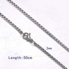 FUNIQUE acier inoxydable ton argent torsadé corde mélange chaîne collier pour la fabrication de bijoux hommes femmes longue chaîne collier bijoux(China)