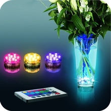 Multi Color Submersible 10LED Light Party Lamp Underwater W/ Remote Control For 2015 New
