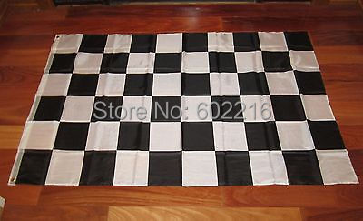 2 BLACK AND WHITE CHECKERED FLAG 3'X5' NASCAR RACING BANNER CHECKER Flag 3FTX 5FT(China (Mainland))