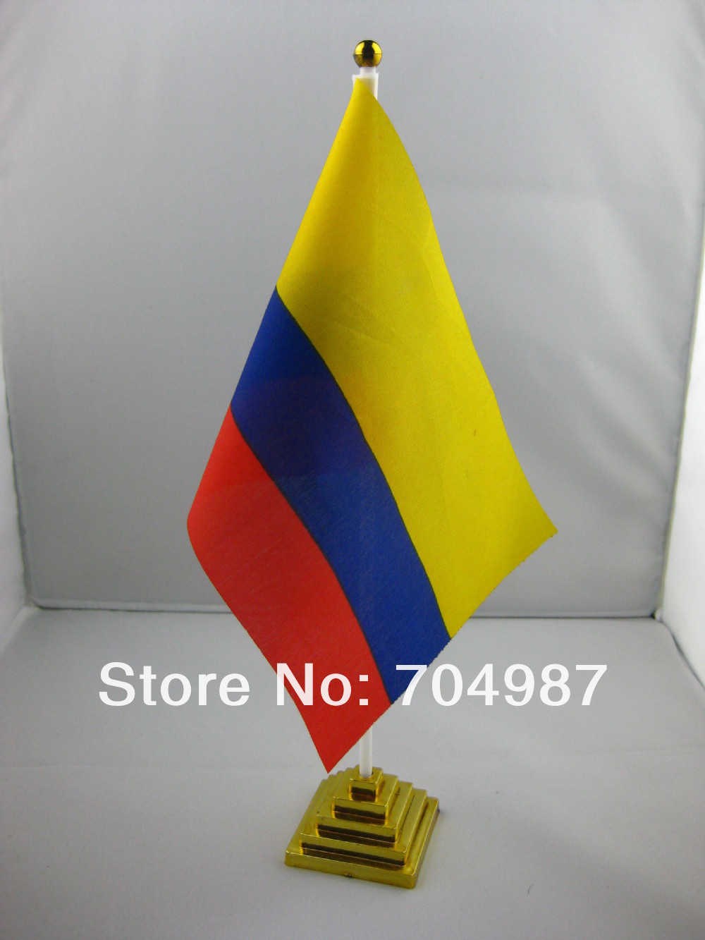 Colombia table flag desk flag table banner desk banner free shipping(China (Mainland))