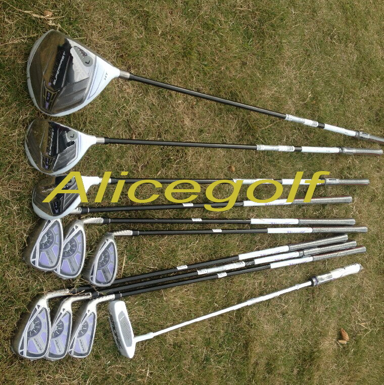 2015 New woman golf clubs superfast 3.0 complete set OEM quality lady clubs full set driver fairway woods hybrids irons putter(China (Mainland))