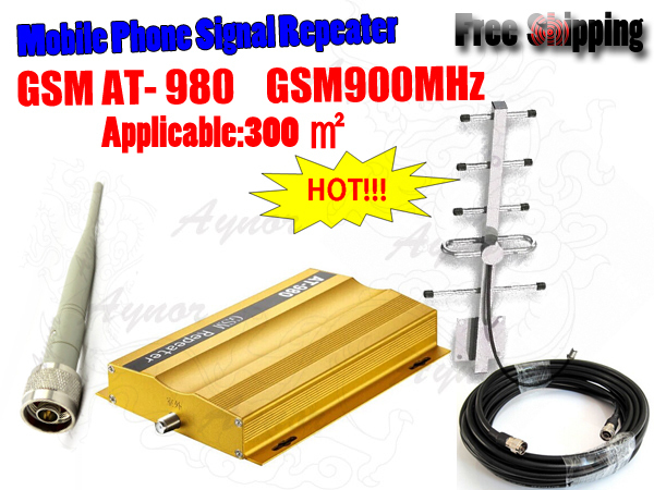 Hot!!!GSM Repeater Booster, 900Mhz Cellular Mobile Cell Phone Signal Amplifier Receivers,Applicable 300Sqm,(China (Mainland))