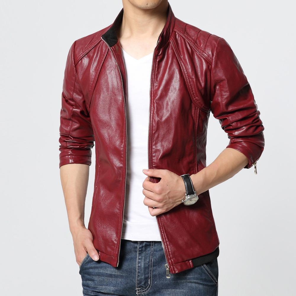 achetez en gros hommes blazer en cuir rouge en ligne des grossistes hommes blazer en cuir. Black Bedroom Furniture Sets. Home Design Ideas