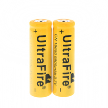 2x 3.7V 18650 UltraFire 9800mAh Li-ion Rechargeable Battery For Flashlight Torch Free Shipping
