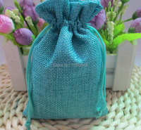 10x13cm/4x5 inch Faux jute/ burlap/pouches Mini Drawstring Bags ,Custom logo and custom bag size acceptable