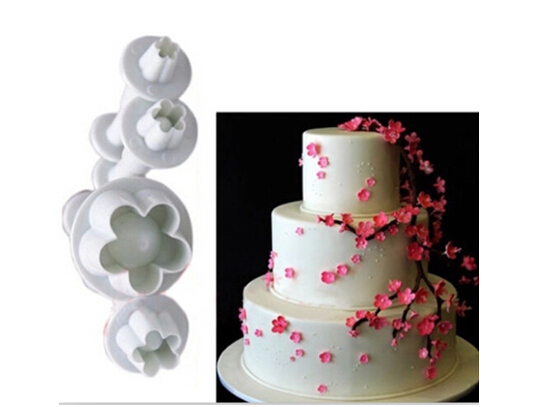 Blossom Plunger Modeling Tools for Cakes Baking (4pcs)