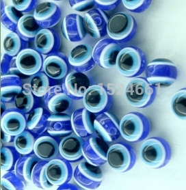 50 Dark Blue Evil Eye Stripe Round Resin Beads 10mm * * body jewelry alibaba charms chunky beads wholesale crafts christmas(China (Mainland))