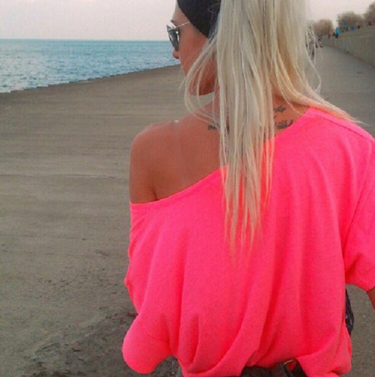 Woman Sexy T Shirt Off The Shoulder Tops For Women New 2016 T Shirt Women Tops