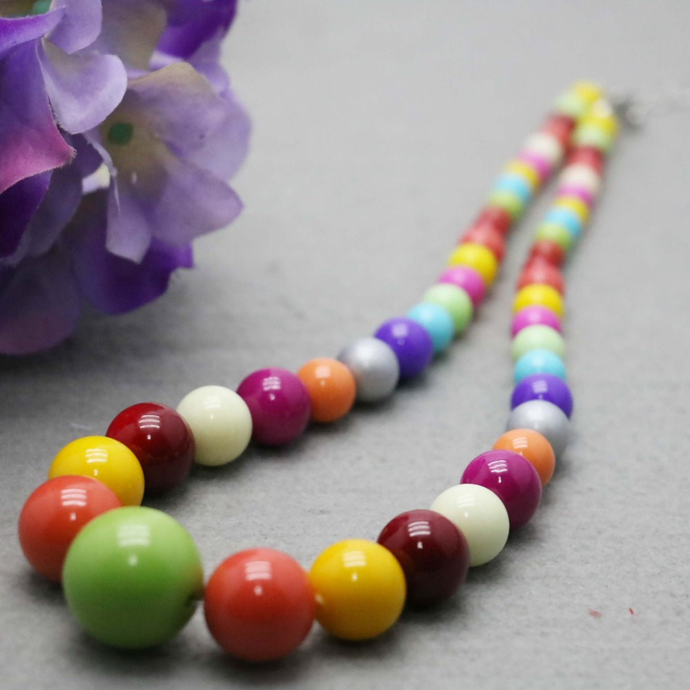 Popular Candy beads necklace Colorful Turquoise Chalcedony Natural Stone for women girls Ladies hand chain jewelry Design(China (Mainland))