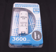 3600mAh Portable Rechargeable Backup Battery Pack for Wii Remote Controller Free Shipping