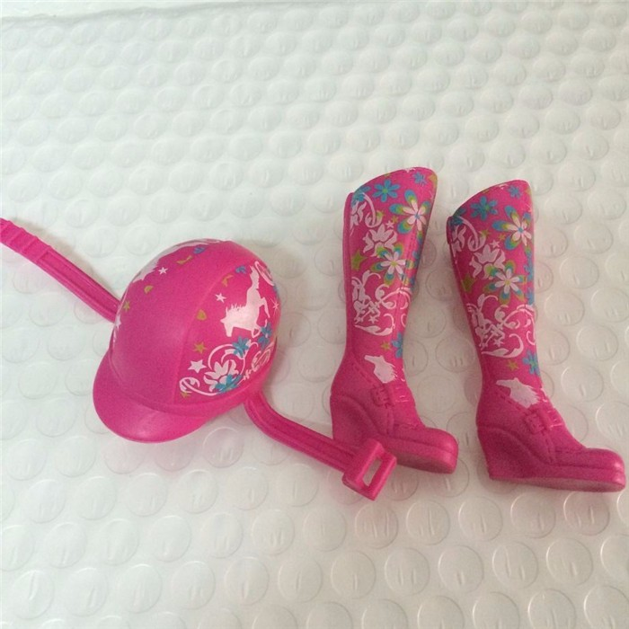 3Pcs/Lot=1Pair Sneakers+1 Hat Using Swimsuit for Barbie Trend Equipment for BJD Doll