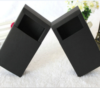 Size:17.2*10.2*4.2cm black, Paper Box with Sliding Drawer, , Cosmetic Packaging boxes , gift cardboard boxes