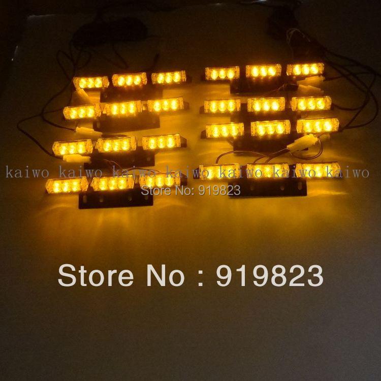 8*9 72 LED Warning Blinking Strobe Flash Light 3 Mode 12V. Red, Amber. White. Blue. Green LED flash<br><br>Aliexpress