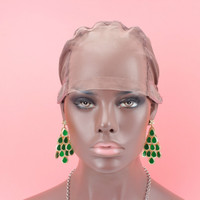 Brown color Free Shipping Full lace wig caps for making wigs Glueless full lace Wig Caps Adjustable Strap On the Back