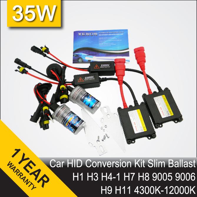 35W HID Conversion Headlight Xenon Kit Single Car Light Bulb H1 H3 H4-1 H7 H8 H9 H10 H11 HB3 HB4 9005 9006 4300k 6000k 8000k(China (Mainland))
