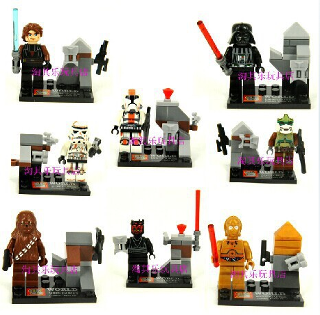 Wholesale 10Lot SY198 Building Blocks Super Heroes Avengers Action Figures Star Wars Minifigures Bricks Toys For Children<br><br>Aliexpress