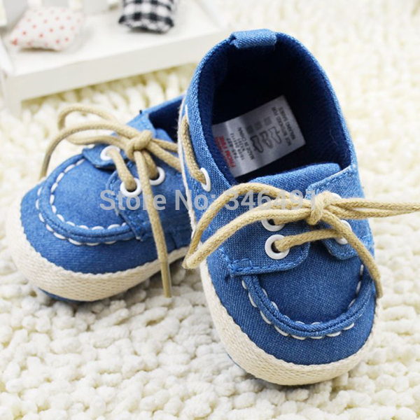 New Toddler Boy Girl Soft Sole Crib Shoes Laces Sneaker Baby Shoes PrewalkerFree&Drop Shipping