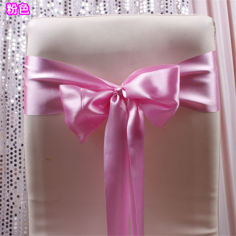 Wedding chair bows sash banquet event party wedding chair decoration china supplier