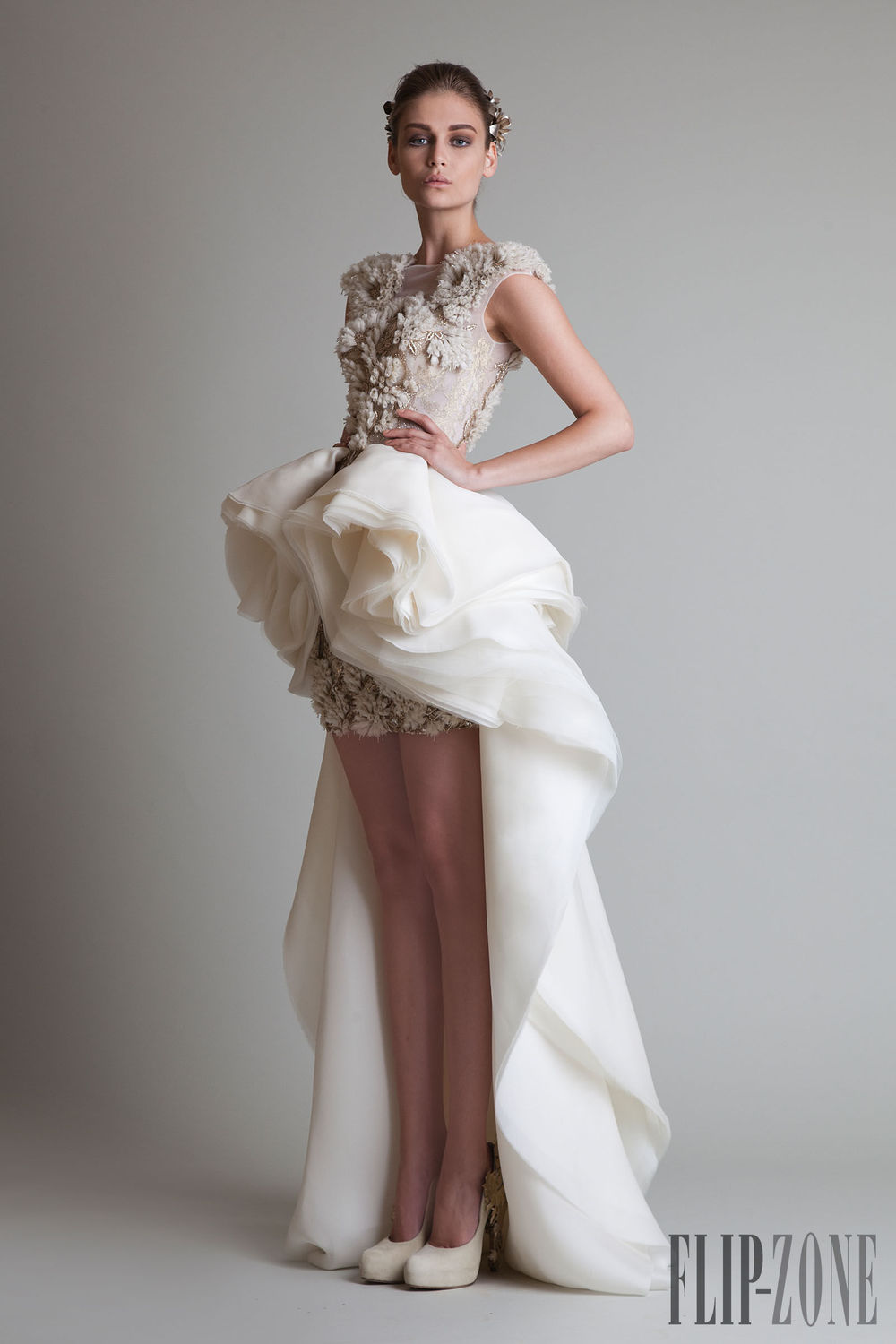Short Wedding Dress With Train