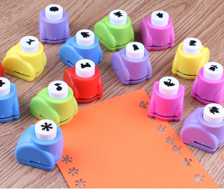 1 PCS Mini Printing Paper Hand Shaper Scrapbooking Tags Cards Craft DIY Punch Cutter Tool 8 Styles(China (Mainland))