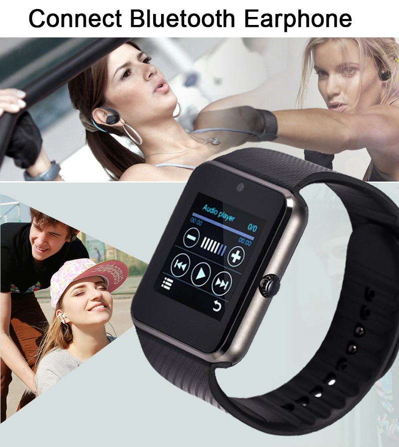 image for GT08 Bluetooth Smart Watch Phone With SIM Card Slot 2MP Camera MTK6260