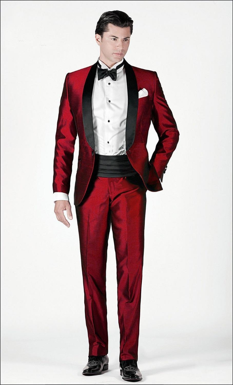 Dark Red Prom Suit | My Dress Tip