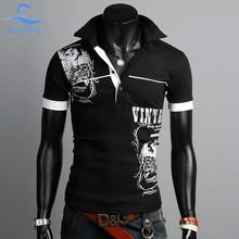 Bebling 2015 baru pria pakaian, Merek Fashion Polo pria Polo shirt, Desain Printing tinggi musim panas lengan pendek camisa polo16-011