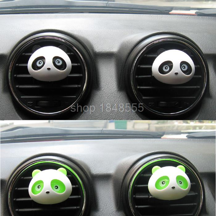 4Pcs Car Air Freshener Perfume Incense Kawaii Panda Coutlet Vent Air Freshener Car Perfumes Fragrance Ionizer Products Men Women(China (Mainland))