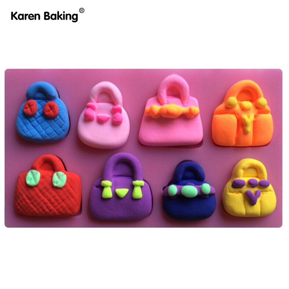 Famous Brand Fashion Handbag 3D Silicone Cake Molds Tools Cooking Tools-C392(China (Mainland))
