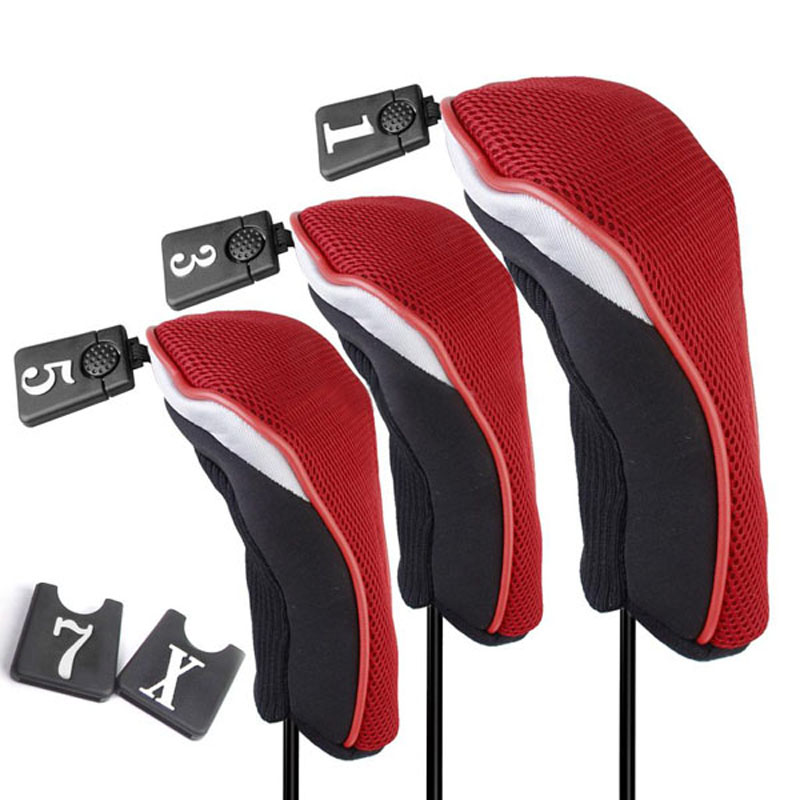 3 sizes Red Soft 1 5 Wood Golf Club Driver Headcovers Head Covers Set - Michael & Dolphin's Store store