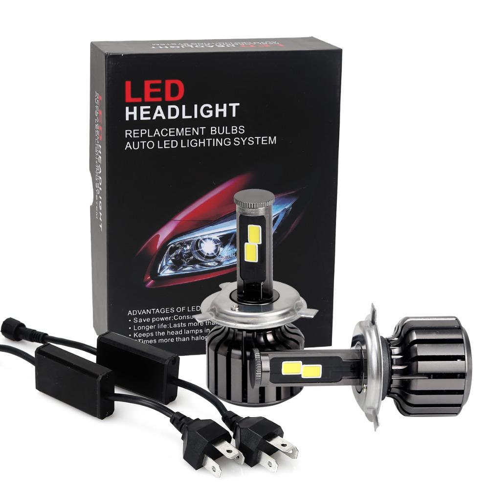 2016 H4 1set Car Headlights 120w 10000lm Led Head Light Bulb Automobiles Headlamp 6000K white Fog Lamps xenon replace high low(China (Mainland))