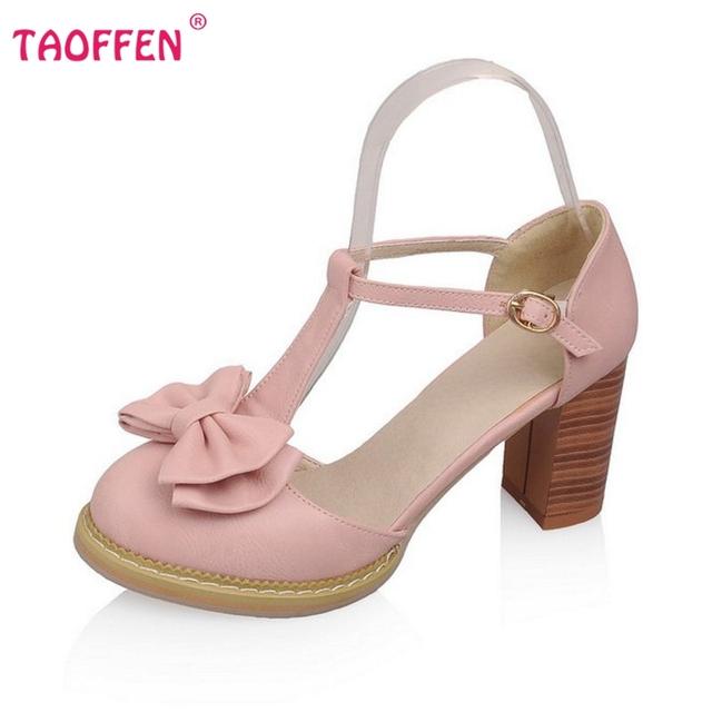 Женщины боути лодыжки ремень лето квадратные высокий каблук сандалии sexy моды милая ...