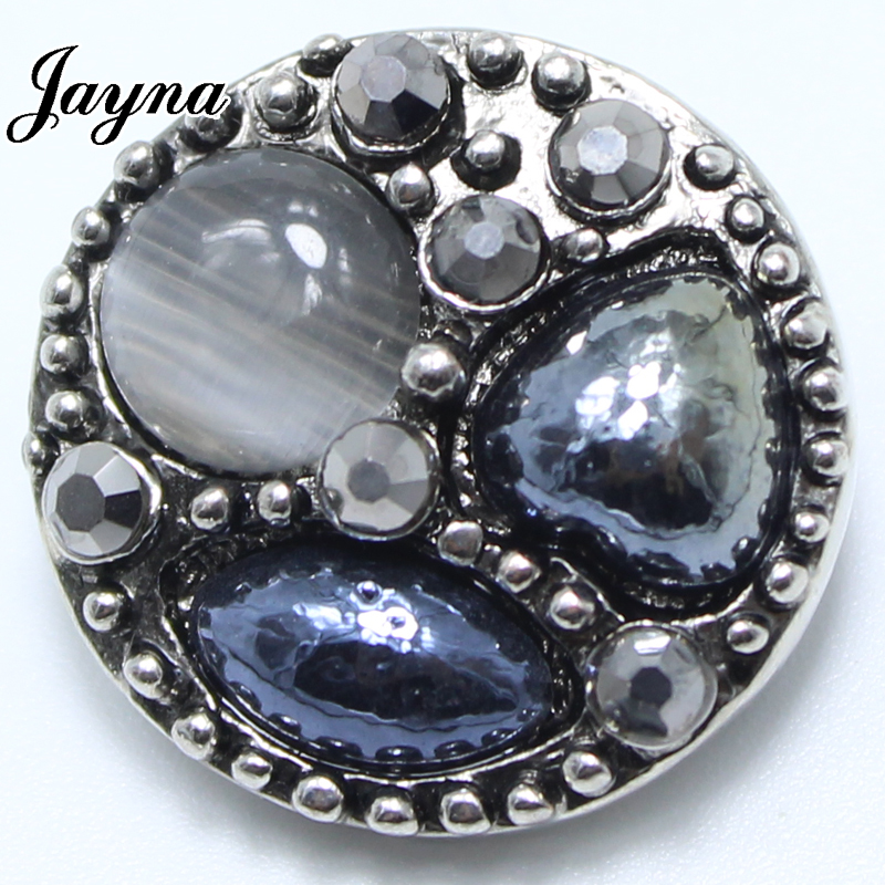10pcs/lot ginger snaps jewelry 18/20mm metal snap button charms rhinestone button fit snaps buttons bracelets GS1208039