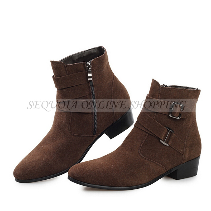 Sale Suede Pointed Top Men Fashion Warm Inside Winter Ankle Boots MY5470B - Sequoia Trading Company (No. 2 store)