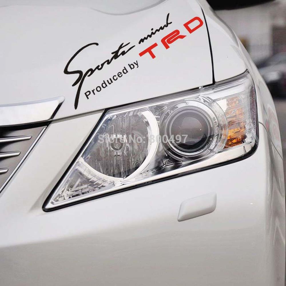 TRD Toyota Racing Development Sports Classical Car Sticker Auto Decal Eyelids Sticker for Toyota Camry Reiz RAV 4 Corolla Hilux