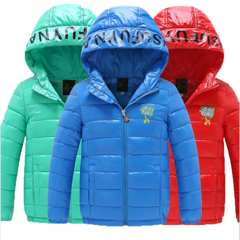 childrens cartoon boy Down Down solid cotton  hooded casual sports coat jacket 50<br><br>Aliexpress