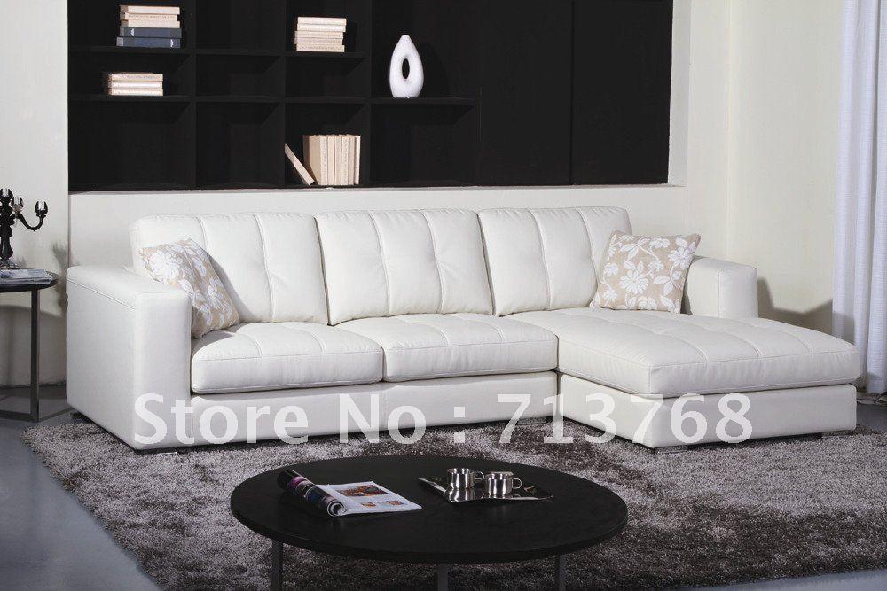 Muebles modernos sala sal n sal n de cuero seccion a for Muebles esquina para salon
