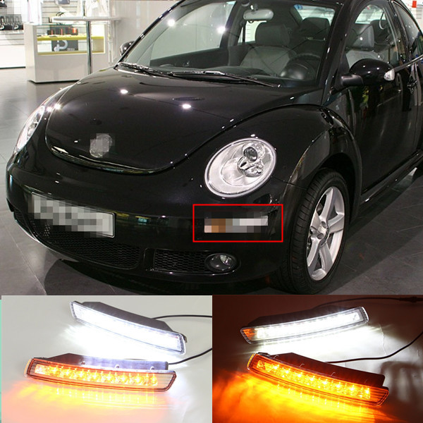Car accessories for Vw Volkswagen Beetle 2007~2010 LED DRL daytime running lights with turning signal light(China (Mainland))