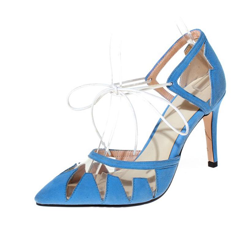 Фотография 2016shoes woman summer sandals high heel Platform Pumps sheepskin leather ankle strap women platform shoes zapatos mujer 3colors