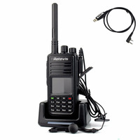1 pc Retevis DMR Digital Walkie Talkie RT3 UHF 400-480MHz 5W 1000 CH Digital Ham Amateur VOX Alarm Radio Comunicador A9110