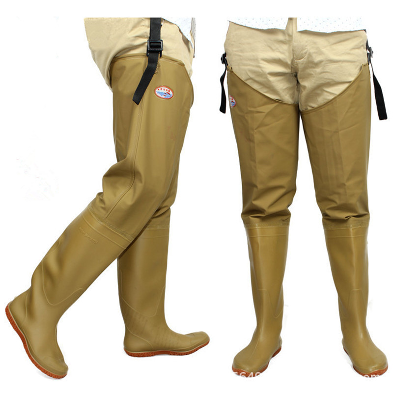 Fishing waders men and women boots shoes wear resistant for Fishing waders with boots